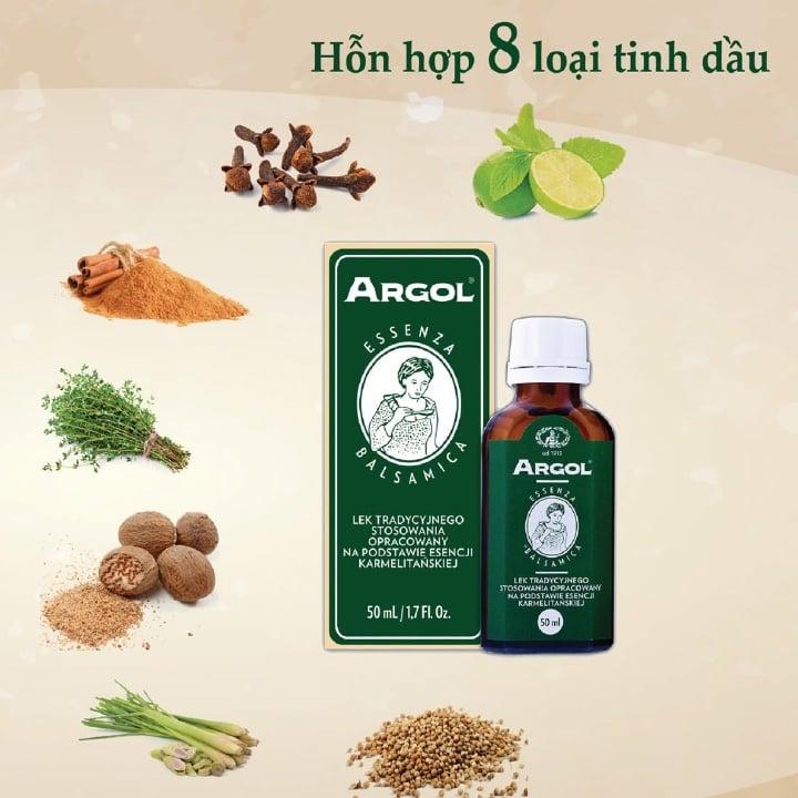 argol có chứa 8 loại thảo mộc châu âu